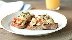 quick vegetable scramble on toast