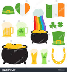 st patricks day collection white background stock vector 677520979