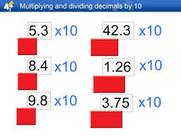 multiplying and dividing decimals by 10 100 and 1000 worksheet