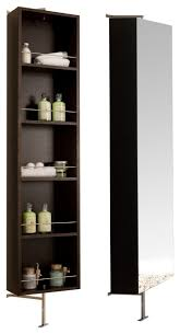 Mirrored Bathroom Cabinet by Mirror Shelf Cabinet Wenge Contemporary Bathroom Cabinets And