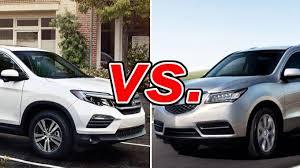 honda pilot size comparison honda pilot vs acura mdx carsdirect