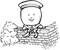 humpty dumpty coloring pages free coloring home