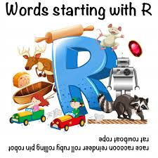 worksheet design for words starting with r vector free
