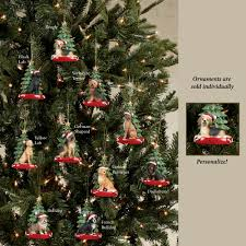 kurt adler christmas dog breed personalized tree ornament