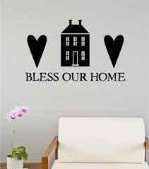 Primitive Country Home Decor by Bless Our Home Vinyl Decal Wall Stickers Letters Words Primitive
