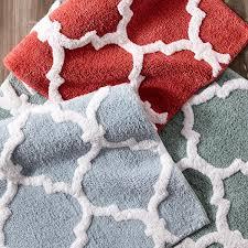 moorish tile coral 21 34 bath rug u2013 goodglance