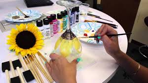 wine glass painting diy how to paint flowers on wine glasses youtube