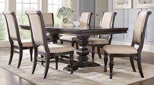 westerleigh oak 7 pc rectangle dining room dining room sets dark