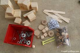 found object robots a beginning woodworking project for kids