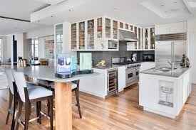 Hardwood Floor Apartment Inviting Modern Apartment Kitchen House Furniture Presenting