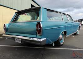 green ford station wagon galaxie country sedan station wagon 5800cc v8 classic 1965 8 seater