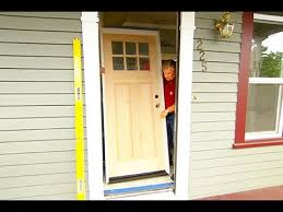 Exterior Door Wood How To Install A Solid Wood Exterior Door