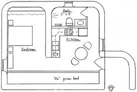 3 earthbag tiny house plans earth bermed
