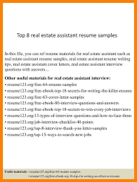 Resume Objective For Real Estate Real Estate Resume Lukex Co