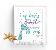 Mermaid Nursery Decor Mermaid Nursery Decor She Leaves A Sparkle Wherever