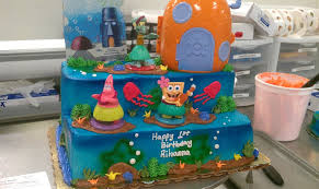 spongebob cake by ibeurnoob on deviantart