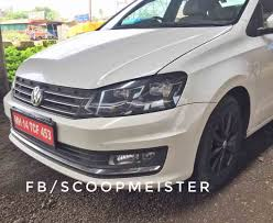 volkswagen vento black volkswagen vento spied revealing new led headlamps
