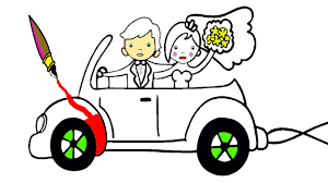 cartoon cars coloring pages the bride and groom car coloring pages for kids fun videos youtube