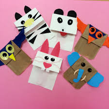 making paper bag puppets these have got to be soooo much fun