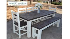farmhouse table also with a chunky farmhouse table also with a