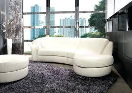 canap arrondi cuir canape cuir arrondi blanc en tapis gris pour noir fair t info