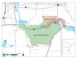 State Map Of Minnesota by Rebuild Option Favored For Highway Through Jay Cooke State Park