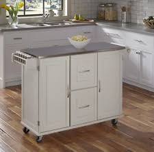 kitchen island cart stainless steel top stainless steel kitchen island ebay
