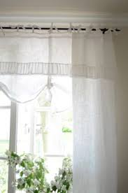 Country Rustic Curtains Bedroom Window Treatment White Grey Black Chippy Shabby Chic