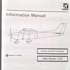 1985 cessna 172p skyhawk pilot u0027s information manual u2013 g u0027s plane stuff