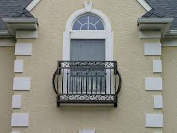 exteriors ornate and sturdy wrought iron balcony railings and