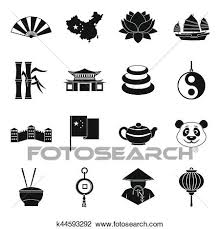 travel symbols images Clip art of china travel symbols icons set simple style k44593292 jpg