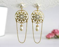 gold bridal earrings chandelier 25 bridal earrings bridal dangle earrings dangle