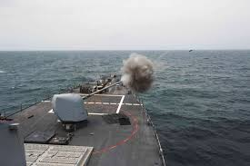 Us Flagged Merchant Ships Container Ship Involved In Collision With Us Navy Destroyer Off