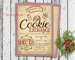 christmas cookie exchange invitations free printable ideas