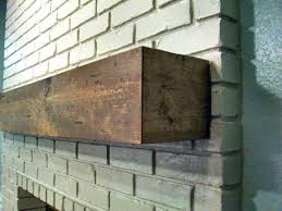 Fireplace Brick Stain by Turn Inexpensive Lumber Into A Mantel That Looks Like A Solid