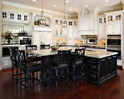 White Kitchen Black Island Love The Colors And Island Traditional Kitchen L Shaped Kitchen