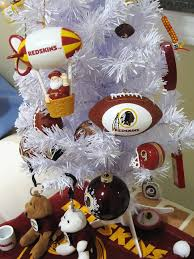 redskins christmas tree sports holiday decorations pinterest