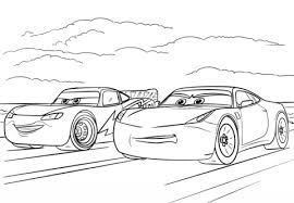 mcqueen and ramirez from cars 3 coloring page free printable
