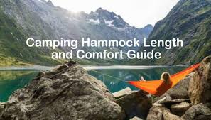 camping hammock length and comfort how to choose section hikers