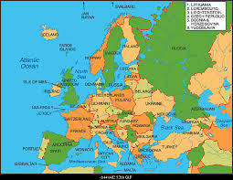 european countries on a map what european country do you the most