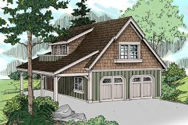 Garage Plans With Living Area by Craftsman House Plans Garage W Living 20 020 Associated Designs