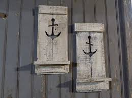 Anchor Home Decor by Two Nautical Anchor Pallet Wall Sconce Beach House Decor Sconce