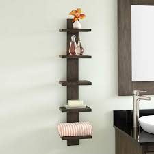 Hanging Bathroom Shelves by Teak Wood Shelf Signature Hardware
