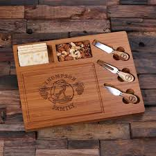 personalized cheese tray personalised bread and cheese board with utensils createyour gift