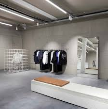 olaf hussein store has a modernism influenced interior concrete