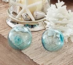 recycled glass balls set of 3 pottery barn