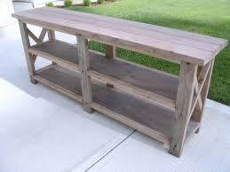 Diy Console Table Rustic X Console Table For Salerustic Tables Sale Plans