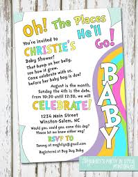 oh the places you ll go baby shower invitation