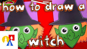 how to draw a witch cutout youtube