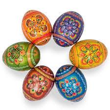 metallic easter eggs 2 5 set of 6 metallic pearlized ukrainian wooden pysanky easter